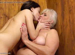 Granny,hairy,lesbian,matures,old young,licking,big butt