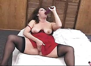 Amateur,big Boobs,brunette,masturbation,milf,solo,stockings,toys