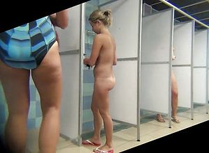 Amateur,shower,voyeur,blonde,matures