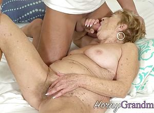 Blowjobs,cumshot,hardcore,hairy,granny