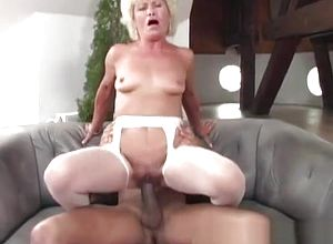Mature,interracial,straight,granny,big cock,toys
